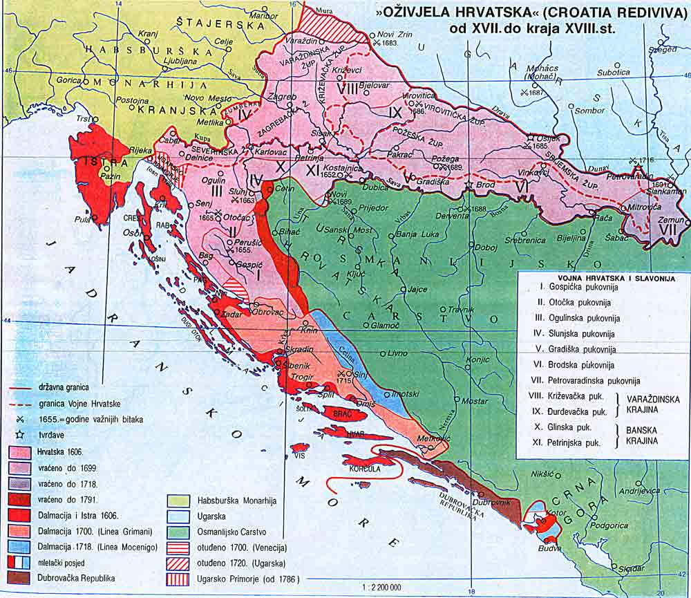 Croatian genealogy maps croatia in the 17th and 18th centuries gumiabroncs Images