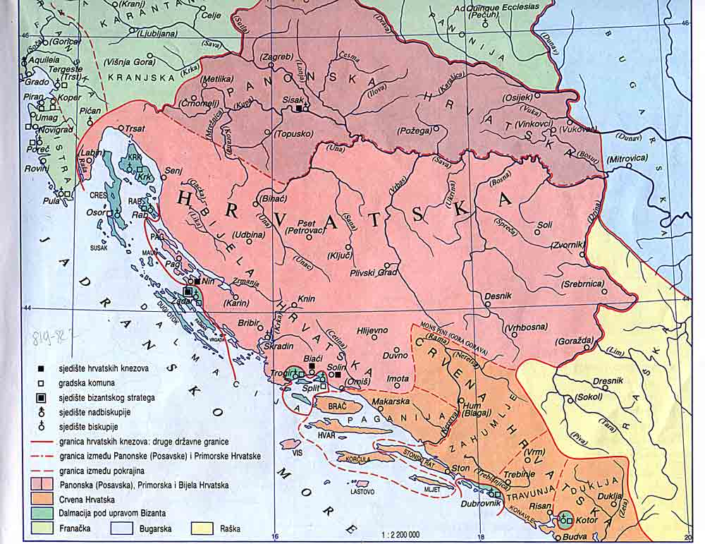 Croatian genealogy maps croatia around 800 gumiabroncs Image collections